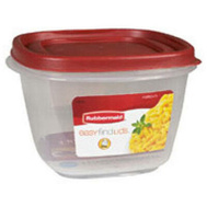 Rubbermaid Home 7J67-00-CHILI Easy Find Lids Food Storage 1.75Qt Square Top