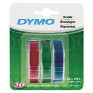 Sanford 1741671 Dymo 3/8 Inch Wide Embossing Tape Assorted