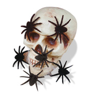 Easter Unlimited 91074K BLK Mini Hairy Spiders