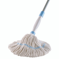 Quickie 354 Cotton Twist Mop With Spot Scrubber