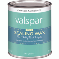 Valspar 87002 Wax Sealing Clear Chalky Pint