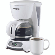 Mr Coffee DR4-NP 4 Cup White Coffeemaker