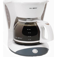 Mr Coffee DW12 12-Cup Pause'n Serve White Switch Coffeemaker