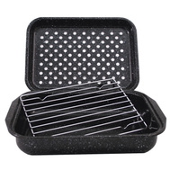 Columbian Home 0513-2 Granite Ware 3 Piece Broiler Pan And Rack