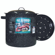 Columbian Home F6315-4 Granite Ware 16 Quart Seafood Steamer With Cover
