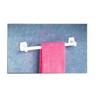 Home Products 2284 24 Inch White Plastic Towel Bar