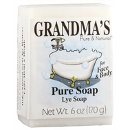 Remwood 60018 Grandma's 6 Ounce Lye Soap Bar For Face And Body