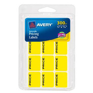 Avery Dennison 06752 300PK YEL Price Label