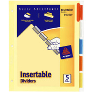 Avery Dennison 81000 Colored Tab 11 Inch By 8-1/2 Inch Index Dividers