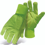 Boss 30PCN 2-Ply Hi-Vis Green Poly Cotton Double Palm Gloves