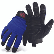 Boss 5205L Mechanics Synthetic Leather Palm And Spandex Gloves Large