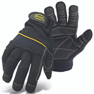 Boss 5202L Mechanics Padded Knuckle Gloves With PVC Palm Large