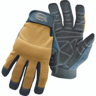 Boss 5206L X-Tough Mechanics Synthetic Leather Palm Reinforced Gloves Large