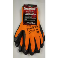 Boss 7843M Therm Plus ll Hi-Viz Orange Work Gloves With Latex Coated Palm Medium