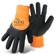 Boss 7842M Gloves Latex Hivis Orange Med