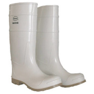Safety Works 2PP392408 SZ8 16 Inch WHT PVC Boot