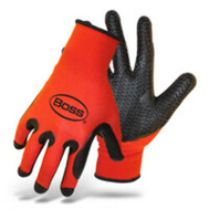 Boss 8417M Gloves Latex Dip Grvd Palm Med