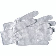 Boss 300W White Poly Cotton String Knit Reversible Gloves Large