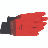 Boss 3500 PVC Dipped Foam Lined Protective Gloves Orange Large