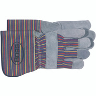 Boss 4046 Split Cowhide Unlined Leather Palm Gloves Large
