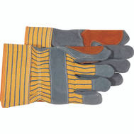 Boss 4057 Double Leather Palm Unlined Yellow Severe Wear Gloves Large