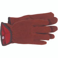 Boss 4175L Split Cowhide Flannel Lined Material & Driving Gloves Large