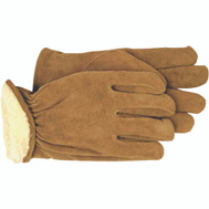 Boss 4176L Split Leather Pile Lined Material & Driving Gloves Large