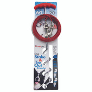 Boss Pet 01316 Tie Out Spiral Stake/Cable