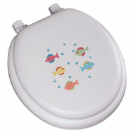 Bemis 1366EC-000/1366-0 Toilet Seat Soft Embroidered Fish