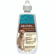 Sergeants 02233 Sentry HC Earmite Free Ear Miticide For Dogs 3 Ounce
