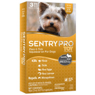 Sergeants 01847 Sentry Pro Toy Flea And Tick Squeeze On For Dogs 4 To 10 Pounds Pack Of 3
