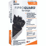 Sergeants 02950 Sentry Fiproguard Flea And Tick Squeeze On For Dogs 4 To 22 Pounds 3 Tubes