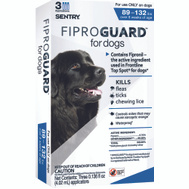 Sergeants 02953 Sentry Fiproguard Flea And Tick Squeeze On For Dogs 89 To 132 Pounds 3 Tubes