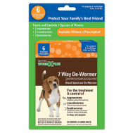 Sergeants 03932 De-Wormer 7 Way Small Dog 6Ct