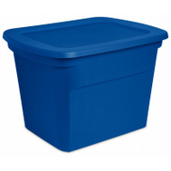 Sterilite 17314308 Box Tote Blue Aquarium 16 Gallons