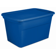Sterilite 17364306 Box Tote Blue Aquarium 30 Gallons