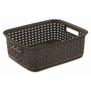 Sterilite 12726P06 Short Wicker Weave Basket Espresso