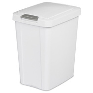 Sterilite 10438004 Touch Top Wastebasket Can 7-1/2 Gallon 28 Liter White