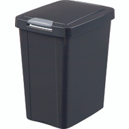Sterilite 10439004 Touchtop Touch Top Wastebasket Can 7-1/2 Gallon 28 Liter Black