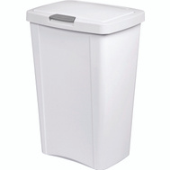 Sterilite 10458004 Touchtop Touch Top Wastebasket Can 13 Gallon 49 Liter White