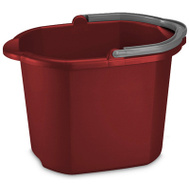 Sterilite 11215806 Red Dual Spout Pail 16 Quart