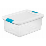 Sterilite 14948012 Box Latching With Lid Plastic 15 Quart