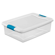 Sterilite 14968006 Box Latching With Lid Plastic 32 Quart