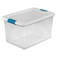 Sterilite 14978006 Box Latching 64 Quart With White Lid