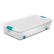 Sterilite 14988004 Box Latch Wheeled With Lid Plst 56 Quart