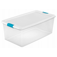 Sterilite 14998004 Box Latching With Lid Plst 106 Quart