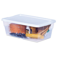 Sterilite 16428012 6 Quart Storage Box White Lid