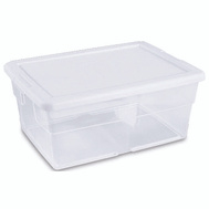 Sterilite 16448012 16 Quart Storage Box White Lid
