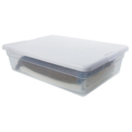 Sterilite 16558010 Basket Storage 23 By 16-1/4 By 6In White Lid