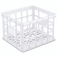 Sterilite 16928006 Milk Crate 15 By 13 By 10 White